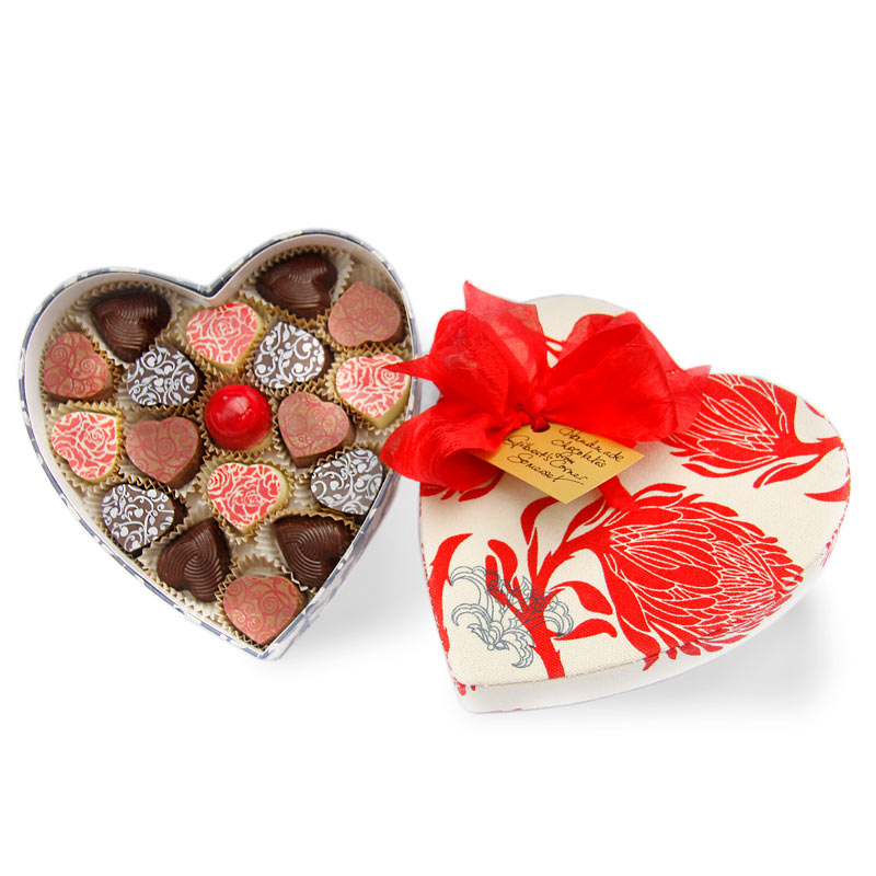 large chocolate box in a heart shape | Gilbert And Swayne