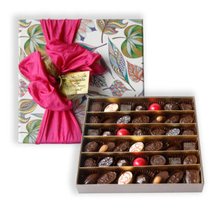 Party box of chocolates Exotic paper