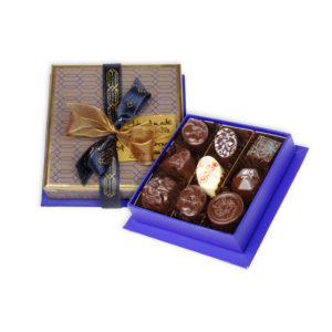 Blue Square Jewellery Chocolate Box - Handmade