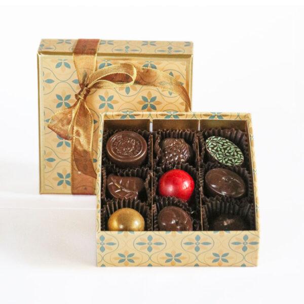 Small Gold Box - Chocolates Somerset