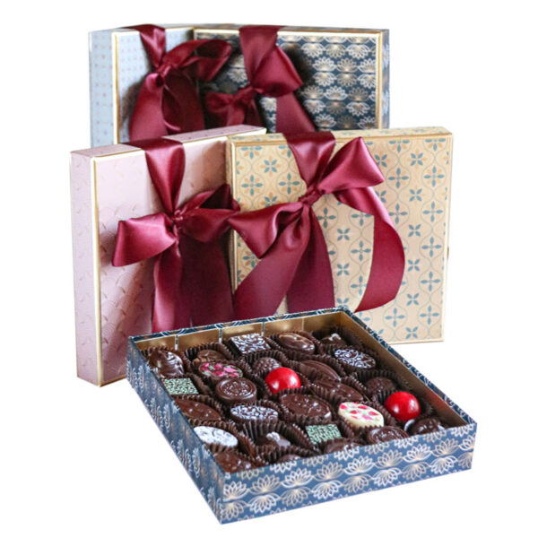 Large Box of Chocolates wrapped in Luxury Paper collection