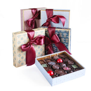 Medium Box of Chocolates wrapped in Luxury Paper collection for Christmas