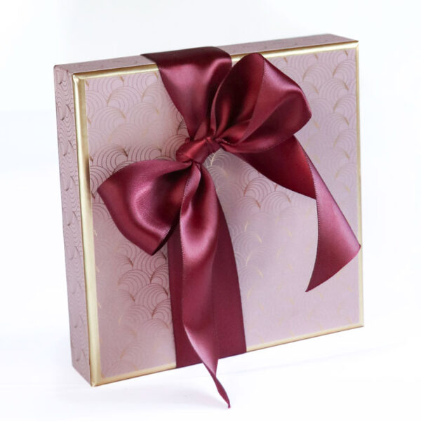 Medium Box of Chocolates wrapped in Luxury Christmas Paper collection - Pink