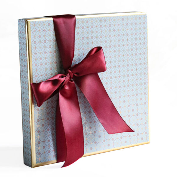 Party Box of Chocolates wrapped in Luxury Paper collection - Light Blue